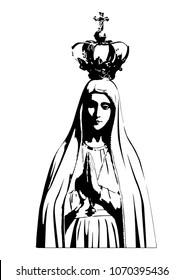 Our lady of Fatima vector catholic virgin Mary