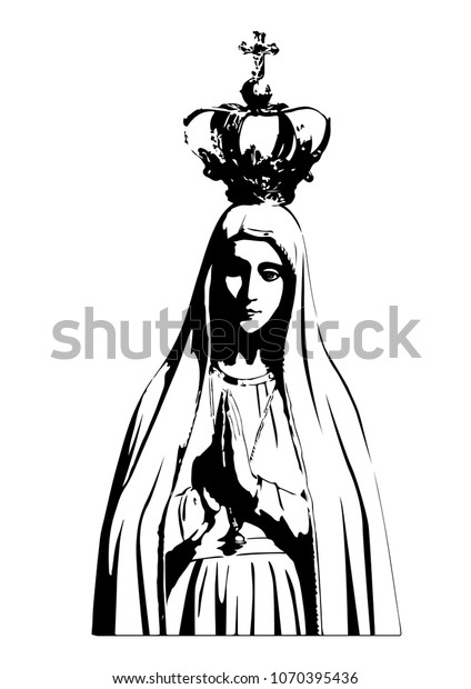 Our Lady Fatima Vector Catholic Virgin Stock Vector Royalty Free
