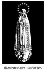 Our Lady of Fatima virgin Mary Catholic vector
