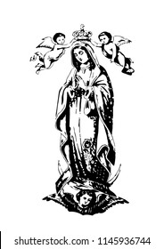 our lady of Guadalupe catholic vector