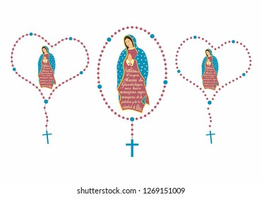 Our Lady of Guadalupe and rosary.