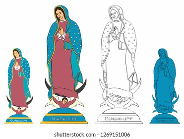 Our Lady of Guadalupe statue.