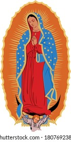 Our Lady Mary Guadalupe with her son
