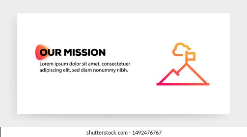 OUR MISSION AND ILLUSTRATION ICON CONCEPT