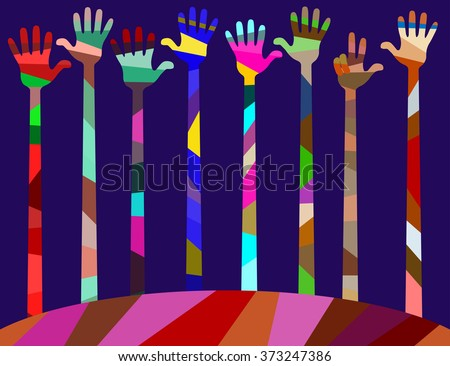 462558f9fcffc Our World Has Colors Joy Friendship Stock Vector (Royalty Free ...
