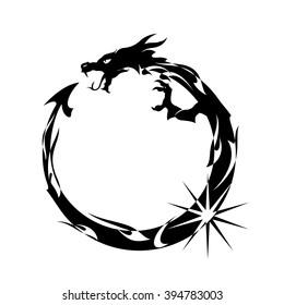 Ouroboros, Black Dragon Eating its Own Tail