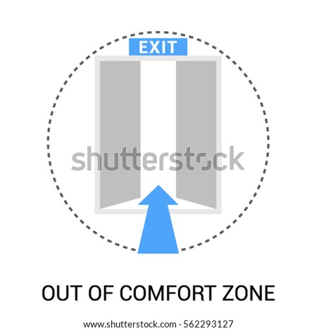 Out Comfort Zone Symbol Open Exit Stock Vector Royalty Free