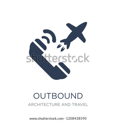 bb369cbb9 Outbound icon. Trendy flat vector Outbound icon on white background from  Architecture and Travel collection