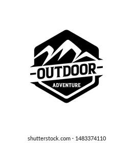 Outdoor adventure badge logo template vector. Outdoor logo concept