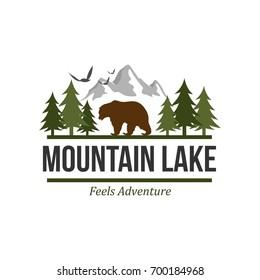 Outdoor and adventure logo design template