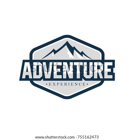 outdoor adventure logo design template stock vector royalty free