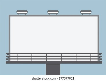 Outdoor blank billboard, VECTOR, EPS10