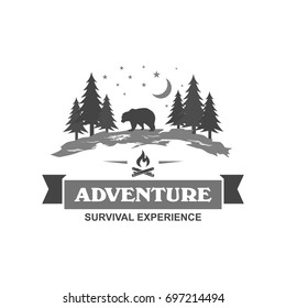 Outdoor and camping logo design template