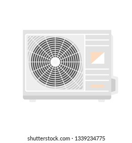 Outdoor conditioner fan icon. Flat illustration of outdoor conditioner fan vector icon for web design