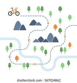 Outdoor cycling map
