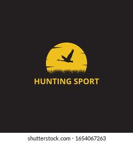 outdoor duck goose hunting sport vector logo design template