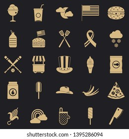 Outdoor eatery icons set. Simple set of 25 outdoor eatery vector icons for web for any design