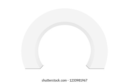 Outdoor event round arch isolated on white background - front view. Vector illustration