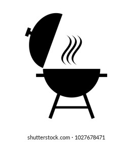 Outdoor grill vector icon. bbq grill icon
