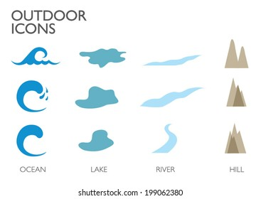 Outdoor icons