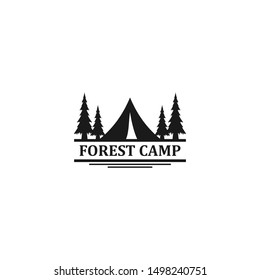 Outdoor logo of camping and adventure