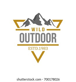 outdoor logo design template stock vector royalty free 700178014