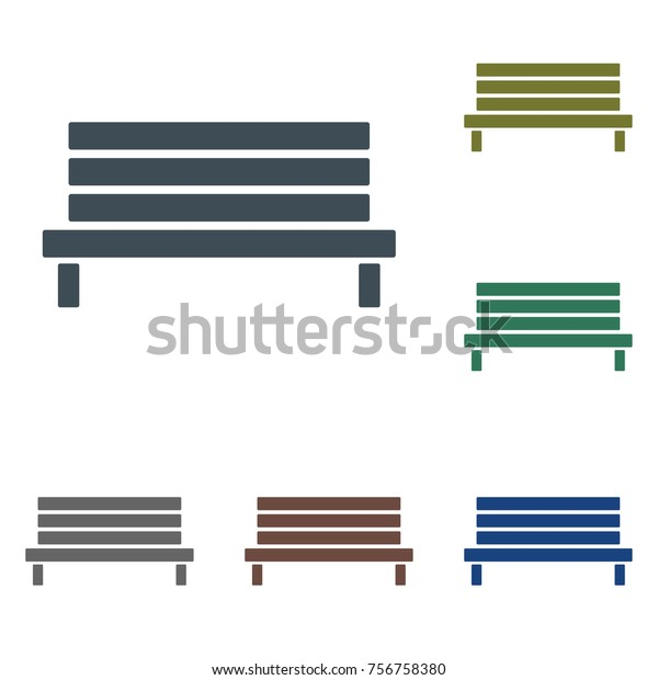 Magnificent Outdoor Park Wooden Bench Vector Icon Stock Vector Royalty Machost Co Dining Chair Design Ideas Machostcouk