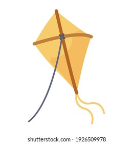 Outdoor recreation activity, flat style icon of kiting