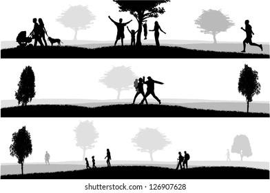 Outdoor recreation.Vector illustration