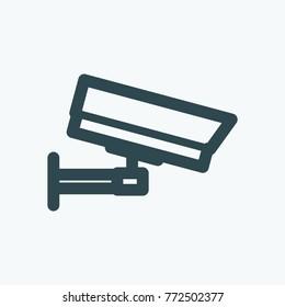 Outdoor video camera vector icon