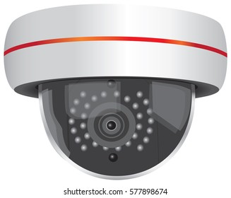 Outdoor Wi-Fi Video Security Camera. Vector illustration.