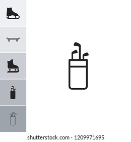 Outdoors icon. collection of 6 outdoors filled and outline icons such as ice skate, golf putter, skating. editable outdoors icons for web and mobile.