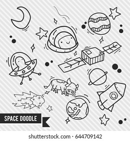 outer space doodle