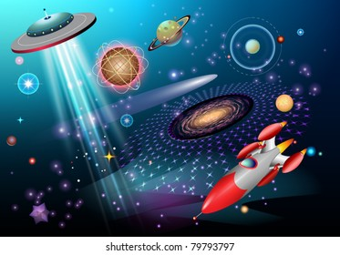 outer space fantasy theme