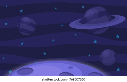 Outer space illustration for video game background