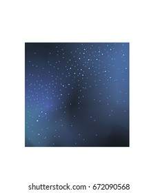 Outer space starry design. Vector astronomic background