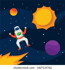 Outer Space Vector Illustration Design