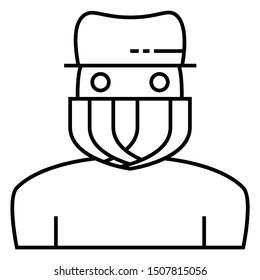 Outlaw Gangster Criminal Burglas Intruder Vector Robber Icon