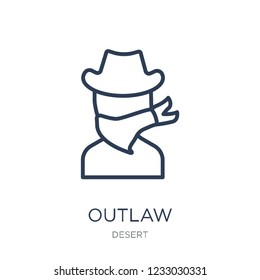 Outlaw icon. Trendy flat vector Outlaw icon on white background from Desert collection, vector illustration can be use for web and mobile, eps10