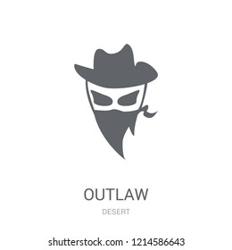 Outlaw icon. Trendy Outlaw logo concept on white background from Desert collection. Suitable for use on web apps, mobile apps and print media.