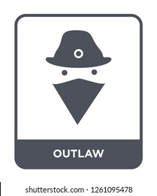 outlaw icon vector on white background, outlaw trendy filled icons from Desert collection, outlaw simple element illustration