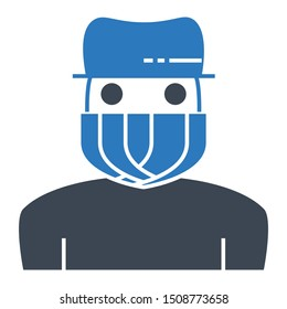 Outlaw Intruder Cybercrime Theif Robber Law Justice Vector Icon