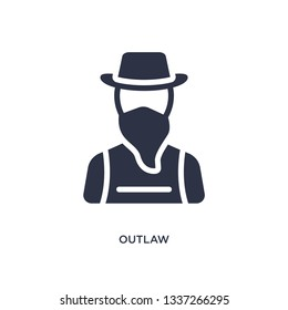 outlaw isolated icon. Simple element illustration from desert concept. outlaw editable logo symbol design on white background. Can be use for web and mobile.