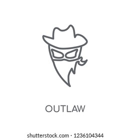 Outlaw linear icon. Modern outline Outlaw logo concept on white background from Desert collection. Suitable for use on web apps, mobile apps and print media.