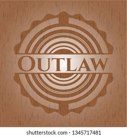 Outlaw wooden signboards