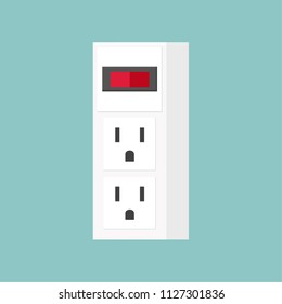 outlet cartoon vector. free space for text. wallpaper. background.