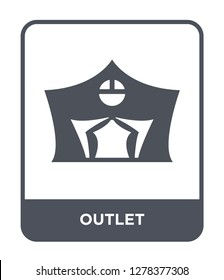 outlet icon vector on white background, outlet trendy filled icons from Camping collection, outlet vector illustration