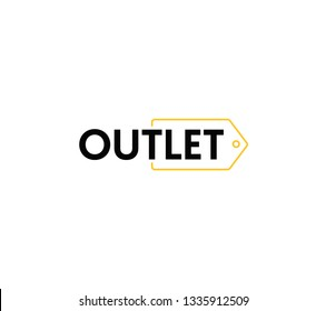 Outlet lettering with tag
