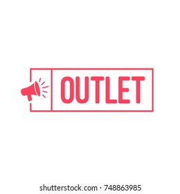Outlet Megaphone Label