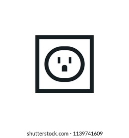 Outlet Modern Simple Outline Vector Icon